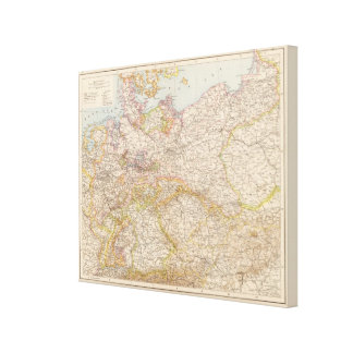 Political Map of Germany Gallery Wrap Canvas