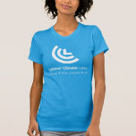 Political Will for a Liveable World Ladies Blue T Shirts