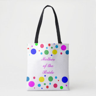 Polka Dot Mother of the Bride Wedding Tote Bag