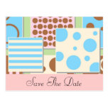 Polka Dots and Stripes Baby Shower Invitation Postcard