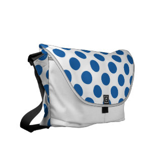 Polka Dots Dazzling Blue Courier Bags
