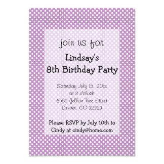 Polka Dots Purple Girl Birthday Party Invitation