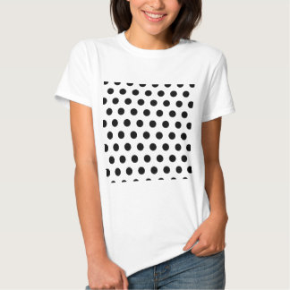 Polka Dots White & Black Tshirt