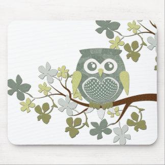 Polka Tree Owl Mousepad