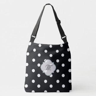 Polkadot black and white chevron bag tote bag