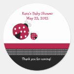 Polkadot Ladybug Baby Shower Favour Sticker