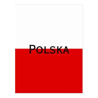 Polska Polish Flag Postcard