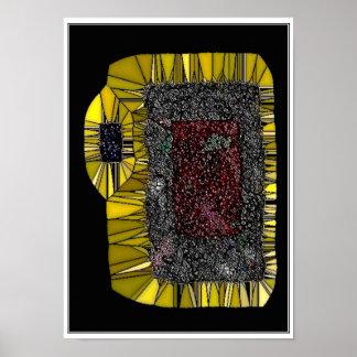 Pomegranite Abstract Art Poster
