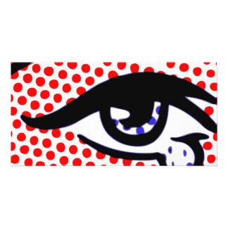 Pop Art Eye Picture Card