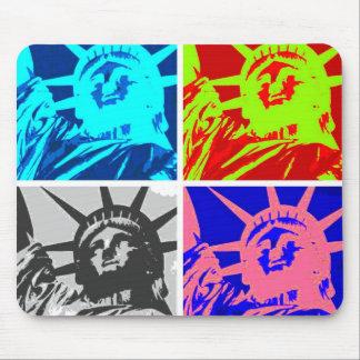 Pop Art Lady Liberty New York City Mouse Pad
