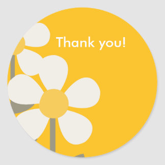 POP DAISY Yellow  Customizable Favor Sticker