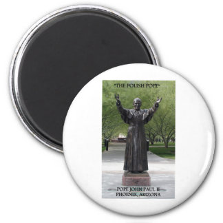 POPE JOHN PAUL II 6 CM ROUND MAGNET