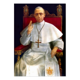Pope Pius XII Prayer-card Pack Of Chubby Business Cards