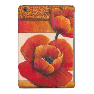 Poppy Flowers on Tan and Orange Background iPad Mini Retina Case