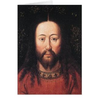 Portrait of Jesus Christ by Jan van Eyck Note Card