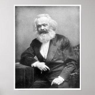 Portrait of Karl Marx Poster