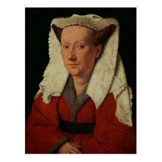 Portrait of Margaret van Eyck, 1439 Postcard
