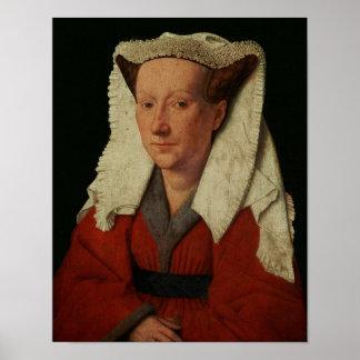 Portrait of Margaret van Eyck, 1439 Poster