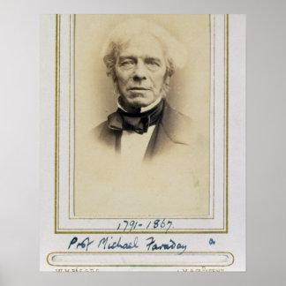 Portrait of Michael Faraday (1791-1867) (albumen p Poster