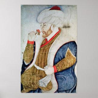Portrait of Sultan Mehmet II Poster