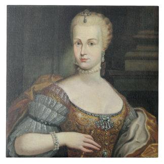 Portrait of the Wife of Pietro Leopoldo di Lorena, Large Square Tile