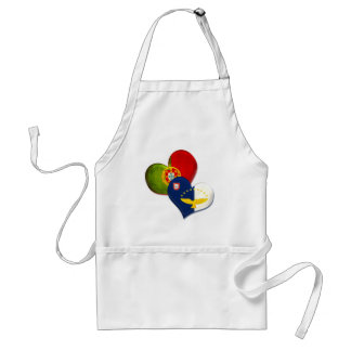Portugal and Azores hearts Standard Apron