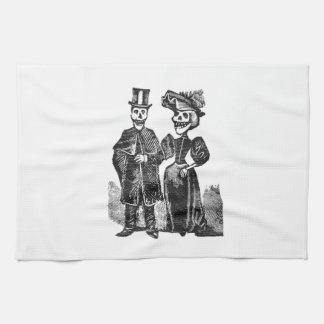 Posada Skeleton Couple Kitchen Towel