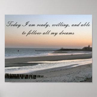 Positive Affirmation motivation about Dreams Poster