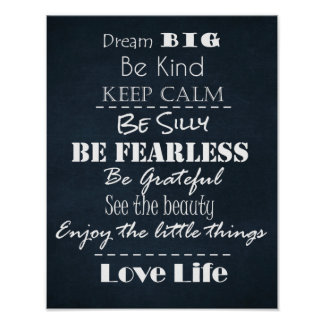 Positive Attitude Affirmations Quotes Poster