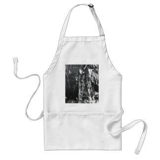 Post modern distressed plastic effect in grey standard apron