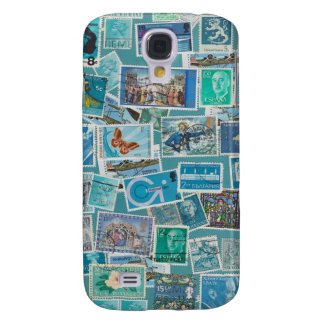 Postage Bleu Galaxy S4 Cover