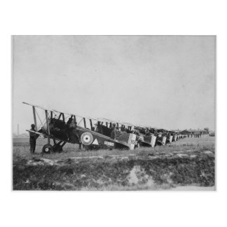 Postcard of WWI planes