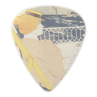 Poster advertising the Exposition Acetal Guitar Pick