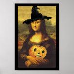 Poster Fun Renaissance Mona Lisa Halloween Witch