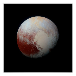 Poster of Dwarf Planet Pluto by NASA New Horizons
