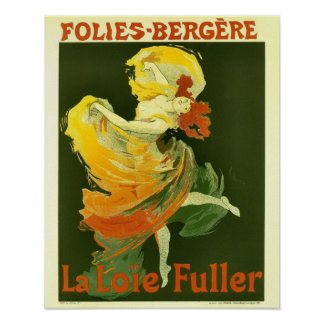 Poster with Chic Vintage Dancing Print