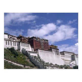 Potala Palace on mountain the home of the Dalai Postcard