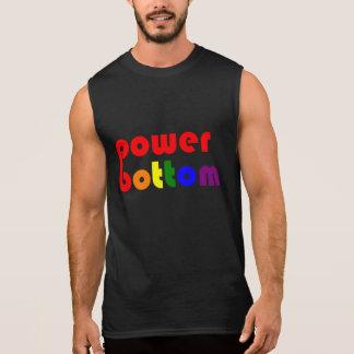 Power Bottom Gay Pide Rainbow Sleeveless Shirts