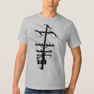 Power Pole Silhouette by Robert Lopo Shirts