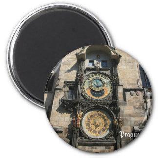 Prague, 6 Cm Round Magnet