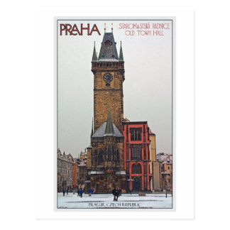 Prague - Old Town Hall Postcard