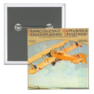 Praha ~ Franco Roumanie 15 Cm Square Badge