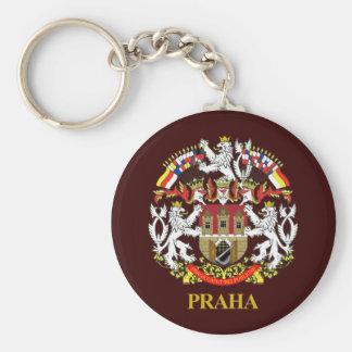 Praha (Prague) Basic Round Button Key Ring