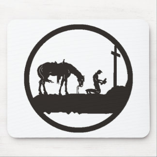 praying cowboy mouse pad