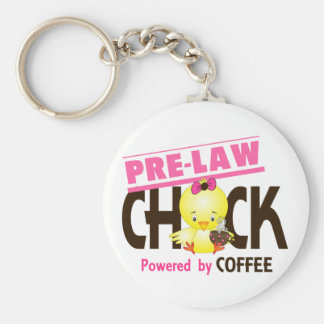 Pre-Law Chick 4 Basic Round Button Key Ring