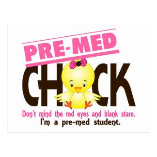 Pre-Med Chick 2 Postcard