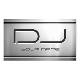 Premium Brushed Stainless Steel Metal - Music DJ Pack Of Standard Business Cards