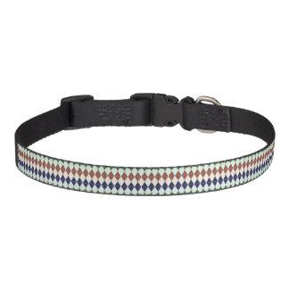 Preppy Argyle Pattern Pet Dog Collar Medium