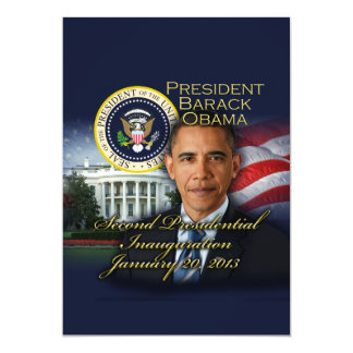 President Obama 2nd Inauguration 13 Cm X 18 Cm Invitation Card