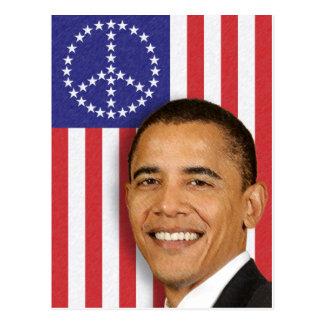President Obama Peace Banner Postcard